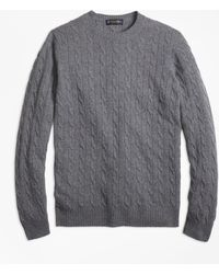 Brooks Brothers - Cashmere Cable Crewneck Sweater - Lyst