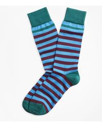 Brooks Brothers - Stripe Crew Socks - Lyst