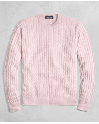 Brooks Brothers - Golden Fleece® 3-d Knit Cashmere Cable-stitch Crewneck - Lyst