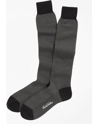 Brooks Brothers - Cotton Bird's-eye Over-the-calf Socks - Lyst