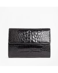 Brooks Brothers - Crocodile-embossed Leather Clutch - Lyst
