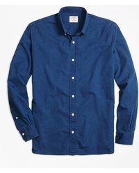 Brooks Brothers | Dark Chambray Sport Shirt | Lyst