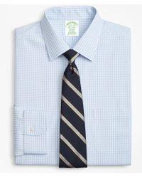 Brooks Brothers - Milano Slim-fit Dress Shirt, Non-iron Triple Check - Lyst