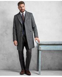 Brooks Brothers - Golden Fleece® Grey Herringbone Topcoat - Lyst