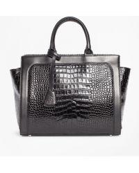 Brooks Brothers - Crocodile-embossed Leather Handbag - Lyst