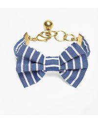 Brooks Brothers - Kiel James Patrick Seersucker Stripe Bow Tie Bracelet - Lyst