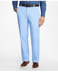 Brooks Brothers - Clark Fit Supima® Cotton Poplin Pants - Lyst