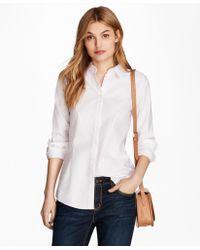 Brooks Brothers - Nine-to-nine Dobby Stripe Stretch Cotton Shirt - Lyst
