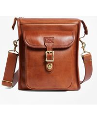 Brooks Brothers | J.w. Hulme Leather Correspondent Bag | Lyst