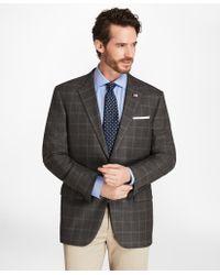 Brooks Brothers - Madison Fit Saxxontm Wool Windowpane Sport Coat - Lyst