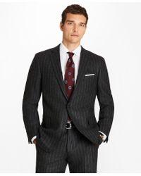 Brooks Brothers - Regent Fit Pinstripe Flannel 1818 Suit - Lyst