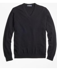 Brooks Brothers - Cashmere V-neck Sweater-basic Colors - Lyst