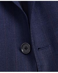 Brooks Brothers Regent Fit Stripe 1818 Suit - Blue