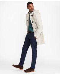 Brooks Brothers - Textured Wool Duffle Coat - Lyst