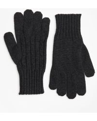 Brooks Brothers - Cashmere Cable Gloves - Lyst