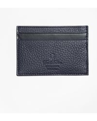 Brooks Brothers - Pebble Leather Card Case - Lyst