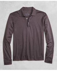 Brooks Brothers - Golden Fleece® Pique Knit Long-sleeve Polo Shirt - Lyst