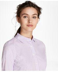 0151eb82d2 Lyst - Brooks Brothers Striped Cotton Poplin Fun Shirt in Pink