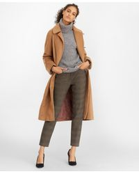 Brooks Brothers Camel Hair Wrap Coat - Natural
