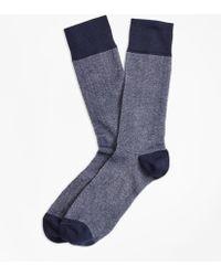 Brooks Brothers - Color-block Crew Socks - Lyst