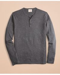Brooks Brothers - Cotton-cashmere Henley - Lyst