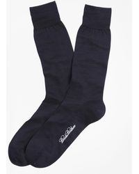 Brooks Brothers - Egyptian Cotton Jersey Knit Crew Socks - Lyst