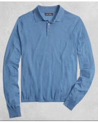 Brooks Brothers - Golden Fleece® 3-d Knit Fine Gauge Merino Polo Sweater - Lyst