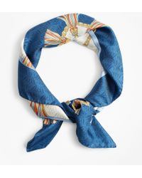 Brooks Brothers - Tassel-print Silk Square Scarf - Lyst