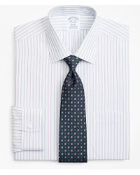 Brooks Brothers - Regent Fitted Dress Shirt, Non-iron Hairline Alternating Stripe - Lyst