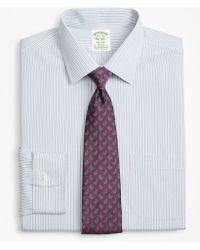 Brooks Brothers - Stretch Milano Slim-fit Dress Shirt, Non-iron Alternating Framed Stripe - Lyst