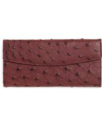 Brooks Brothers Ostrich Wallet - Purple