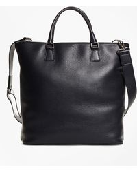 Brooks Brothers - Pebble Leather Tote - Lyst