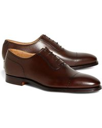 4e4b3a19fe6ee Brooks Brothers Redan Golf Shoes in Brown for Men - Lyst