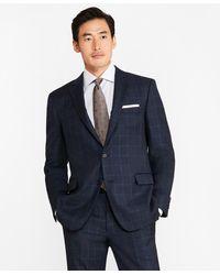Brooks Brothers Regent Fit Saxxontm Wool Windowpane 1818 Suit - Blue