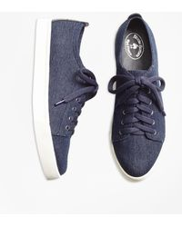 Brooks Brothers - Denim Trainers - Lyst