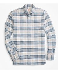 Brooks Brothers - Plaid Supima® Cotton Oxford Sport Shirt - Lyst