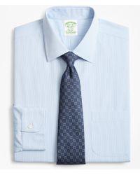 Brooks Brothers - Stretch Milano Slim-fit Dress Shirt, Non-iron Narrow Pindot Stripe - Lyst