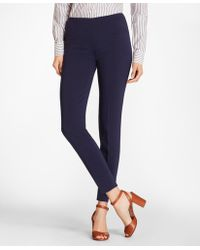 Brooks Brothers - Double-weave Crepe Ankle Trousers - Lyst