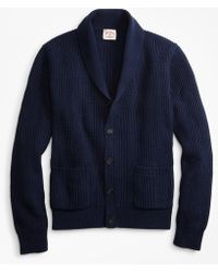 Brooks Brothers - Shawl-collar Button-front Cardigan - Lyst