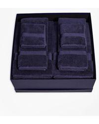 Brooks Brothers Terry Bath Towel Gift Set - Blue