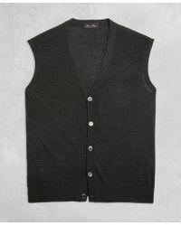 Brooks Brothers - Golden Fleece® 3-d Knit Fine-gauge Merino Button Vest - Lyst