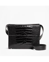 Brooks Brothers - Crocodile-embossed Leather Shoulder Bag - Lyst