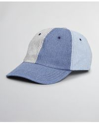 Brooks Brothers Seersucker Fun Baseball Cap - Blue
