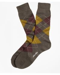 Brooks Brothers - Argyle Crew Socks - Lyst