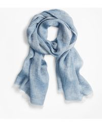 Brooks Brothers Linen Scarf - Blue