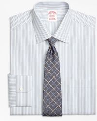 Brooks Brothers - Madison Classic-fit Dress Shirt, Non-iron Alternating Stripe - Lyst