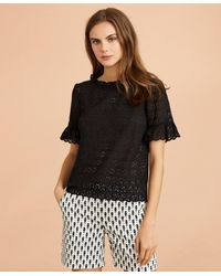 Brooks Brothers - Cotton Eyelet Bell-sleeve Blouse - Lyst