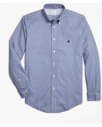 Brooks Brothers - Non-iron Regent Fit Gingham Sport Shirt - Lyst