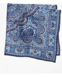 Brooks Brothers - Double-sided Paisley Pocket Square - Lyst