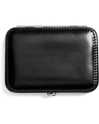 Brooks Brothers Leather Business Card Case - Black